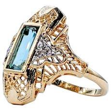 Refined Tourmaline & Diamond Dress Ring