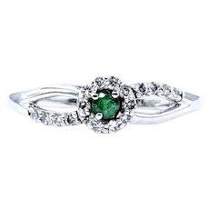 Elegant Emerald & Diamond Ring