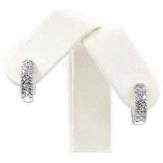 Simon G Diamond Hoop Earrings - 1.04ctw