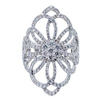 Magnificent Diamond Ribbon Cocktail Ring