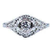 Refined Antique Diamond Engagement Ring