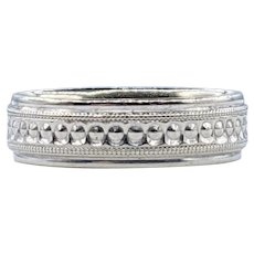 Beautifully Detailed Solid White Gold Ring