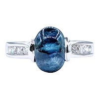 Remarkable Sapphire & Diamond Cocktail Ring