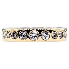 Stackable Diamond & 14K Gold Ring