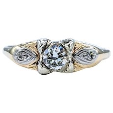 Romantic Old European Cut Diamond Engagement Ring