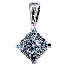 Stunning .30ctw Diamond Pendant - 14K White Gold