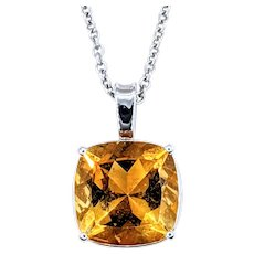 Bright & Beautiful Golden Citrine Pendant