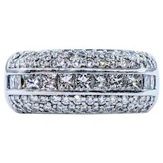 A. Jaffe Diamond Dress Ring - 18K White Gold