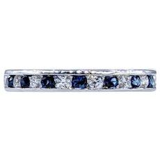 Beautiful Diamond, Sapphire & Platinum Band
