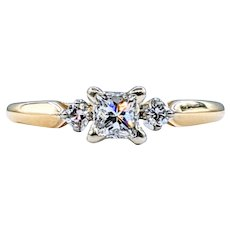 Stunning Princess Cut Diamond Engagement Ring