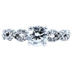 Sophisticated Diamond Twist Engagement Ring