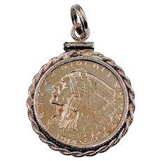 Beautiful Antique US Coin Pendant