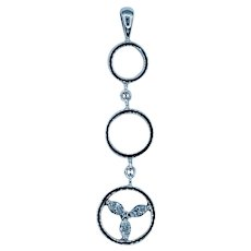 Beautiful Marquise Diamond Dangle Pendant