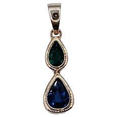 Charming Sapphire & Emerald Pendant