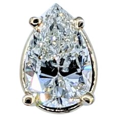 1.14ct Pear Cut Diamond Solitaire Pendant