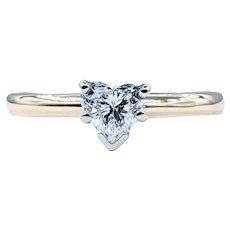 Stunning Heart Cut Solitaire Diamond Ring