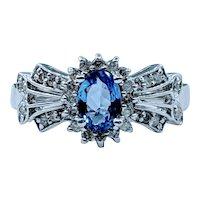 Sophisticated Tanzanite & Diamond Cocktail Ring