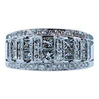 Flashing Diamond & 14K White Gold Cocktail Ring