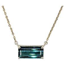 Elegant Tourmaline & 14K Gold Necklace
