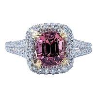 Stunning Pink Tourmaline & Diamond Cocktail Ring