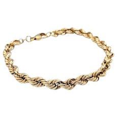 Solid 18K Gold Rope Bracelet