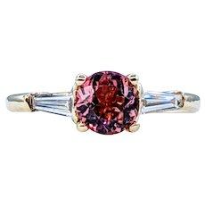Gorgeous Pink Tourmaline & Diamond Ring