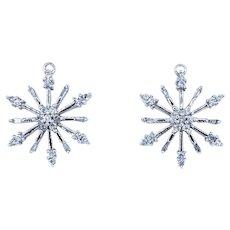 Stunning Diamond Snowflake Earring Jackets