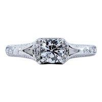 Neil Lane Engraved Diamond Engagement Ring