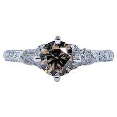 Superb LeVian Chocolate Diamond Engagement Ring
