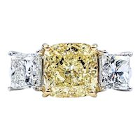 Magnificent 3.30ct Natural Fancy Yellow Diamond Ring
