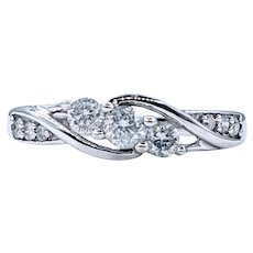 Tasteful Three Stone Diamond Engagement Ring