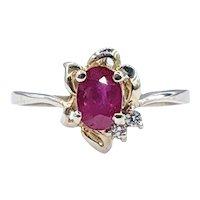 Delicate Ruby & Diamond Dress Ring