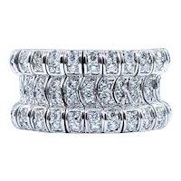 Amazing Diamond & 14K White Gold Flex Ring