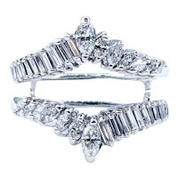Flashing Baguette and Marquise Cut Diamond Ring Jacket
