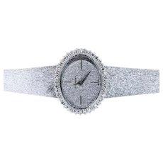 Vintage Bucherer Ladies' Diamond Wristwatch - 18K White Gold