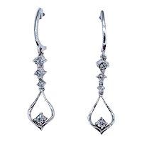 Elegant Diamond & White Gold Dangle Earrings