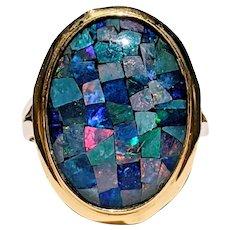 Magical Opal Mosaic Cocktail Ring