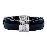 Bold Onyx & Diamond Fashion Ring