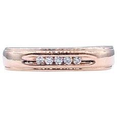 Classic Diamond & Rose Gold Wedding Band