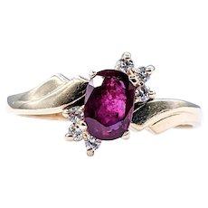Rich Red Ruby & Diamond Fashion Ring