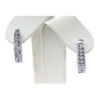 Shimmering Diamond & 14K White Gold Earrings - 1 Carat