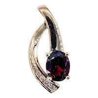 Graceful Garnet & Diamond Pendant