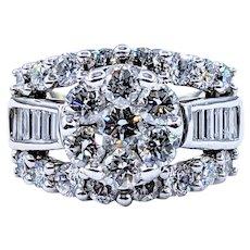 Dazzling 3 Carat Diamond Cluster Ring