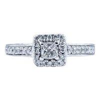 Classic Princess Cut Diamond Halo Ring