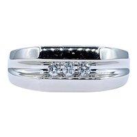 Modern Diamond & Solid White Gold Ring