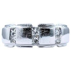 Handsome Diamond & 14K White Gold Ring