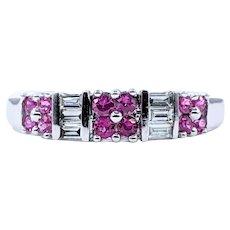 Fabulous Pink Sapphire & Diamond Dress Ring