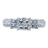 Unique Princess Cut Multi Diamond Ring