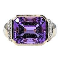 Grand Amethyst & Diamond Cocktail Ring