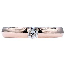 "Beautiful Rose Gold ""Floating Diamond"" Engagement Ring"